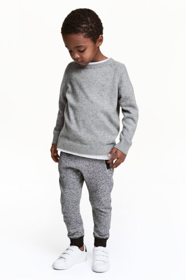 Joggers - Black/White marl - Kids | H&M 1
