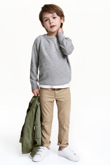 Twill trousers Regular fit - Beige - Kids | H&M 1