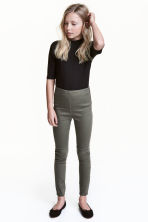 Stretch trousers - Khaki green - Kids | H&M 1