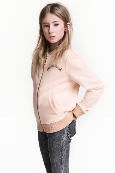 Baseball jacket - Powder pink -  | H&M CN