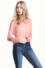 Fine-knit jumper - Powder pink - Ladies | H&M CN 1