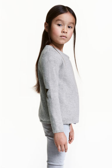 Wrapover cardigan - Grey marl - Kids | H&M 1