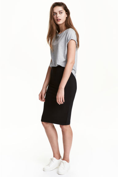 Jersey skirt - Black - Ladies | H&M GB 1