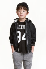 Jersey-lined nylon jacket - Black - Kids | H&M 1