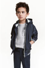 Jersey-lined nylon jacket - Dark blue -  | H&M 1