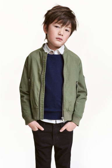 Bomber jacket - Khaki green - Kids | H&M CN 1