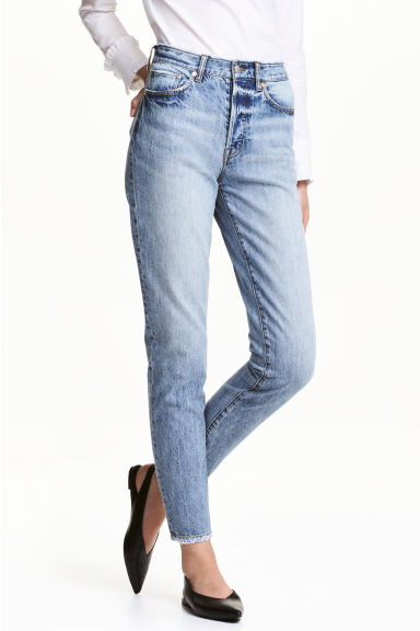 Vintage High Cropped Jeans - Denimblå - DAM | H&M FI