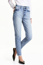 Vintage High Cropped Jeans - Denim blue - Ladies | H&M 1