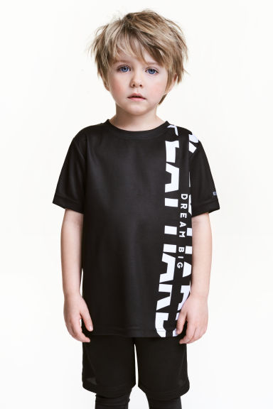 Sports top - Black - Kids | H&M 1