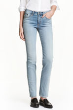 Straight Regular Jeans - Azul denim claro - SENHORA | H&M PT 1