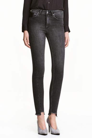 Slim High Twisted Jeans - Black denim -  | H&M GB 1