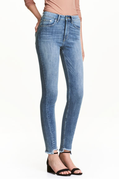 Slim High Twisted Jeans - 牛仔蓝 - 女士 | H&M CN 1