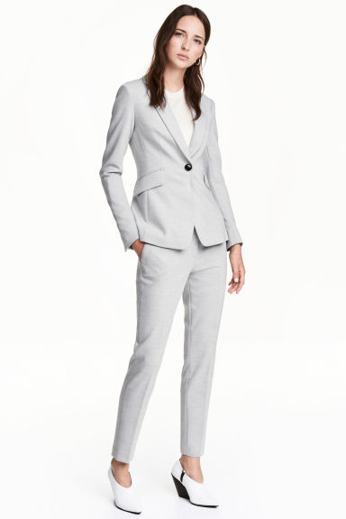 Suit trousers - Light grey marl -  | H&M 1