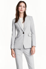Fitted jacket - Light grey marl - Ladies | H&M 1