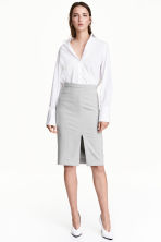 Pencil skirt - Light grey marl - Ladies | H&M CN 1