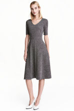 Short-sleeved dress - Black/White/Patterned - Ladies | H&M 1