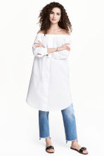 Off-the-shoulder dress - White - Ladies | H&M 1