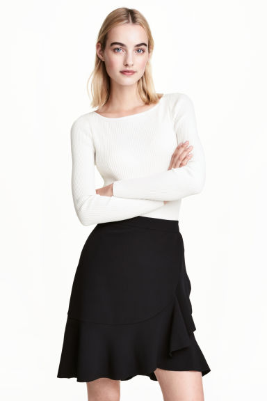 Fitted jumper - White - Ladies | H&M 1