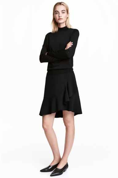 Flounced skirt - Black -  | H&M CA 1