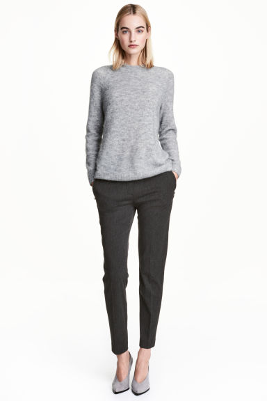 Pull-on trousers - Dark grey marl - Ladies | H&M 1