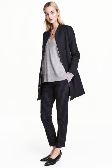 Textured jacket - Dark blue - Ladies | H&M 1