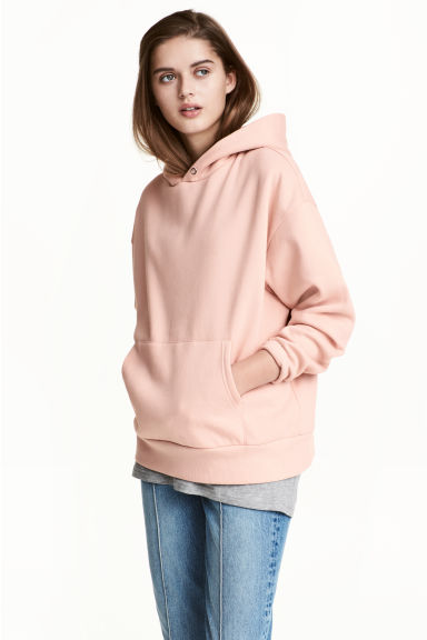 Oversized hooded top - Pink - Ladies | H&M 1