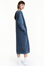 Sweatshirt dress - Dark blue - Ladies | H&M CN 1