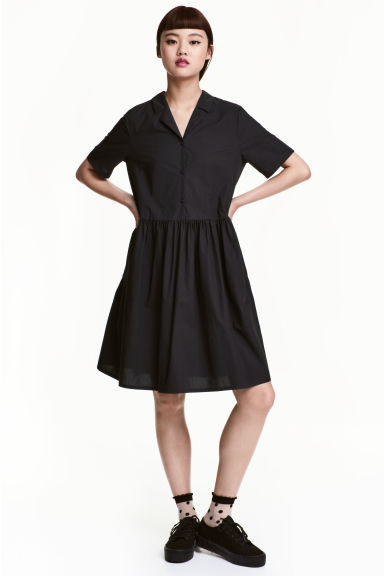 Cotton dress - Black - Ladies | H&M CN 1