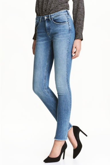 Skinny Low Jeans - Light denim blue -  | H&M 1