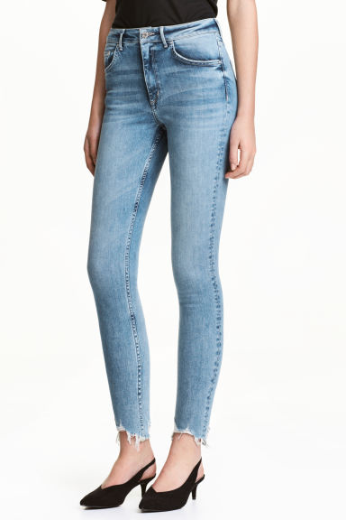 Skinny High Ankle Jeans - Light denim blue -  | H&M CA