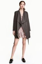 Draped coat - Dark grey - Ladies | H&M 1