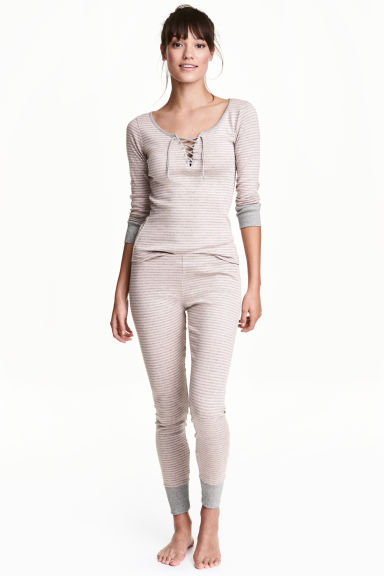 Jersey pyjamas - Light pink/Striped - Ladies | H&M 1