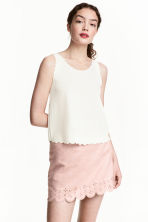 Imitation suede skirt - Light pink - Ladies | H&M IE 2