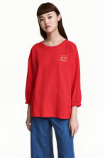 Long-sleeved top - Red - Ladies | H&M 1