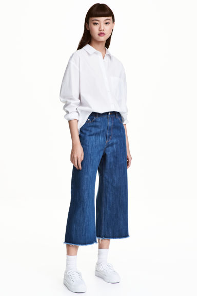 Relaxed High Waist Jeans - Denim blue - Ladies | H&M 1