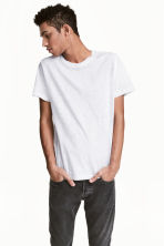 Round-necked T-shirt - Light grey marl - Men | H&M 1