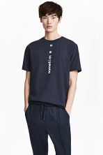 T-shirt - Dark blue - Men | H&M 1