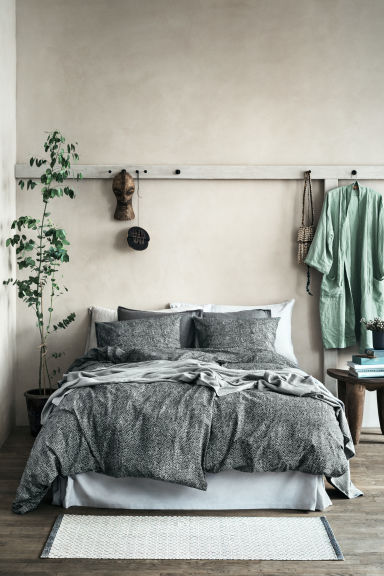 Set copripiumino a pois - Grigio antracite - HOME | H&M IT 1