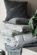 Plaid au point de riz - Gris - Home All | H&M FR 1
