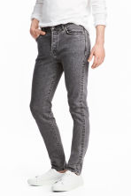 Slim Low Jeans - Dark grey denim - Men | H&M 1