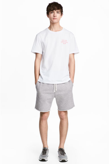 Knee-length sweatshirt shorts - Grey marl - Men | H&M CN 1