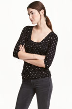 MAMA Nursing top - Black/Spotted - Ladies | H&M 1