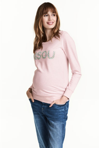MAMA Sweatshirt - Light pink marl - Ladies | H&M 1