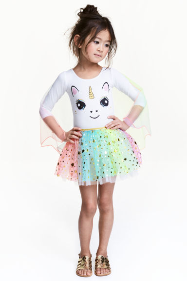 Ballet dress with tulle skirt - White/Unicorn - Kids | H&M 1