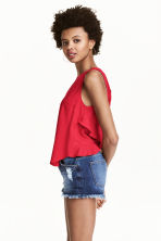 Sleeveless blouse - Red - Ladies | H&M CA 1