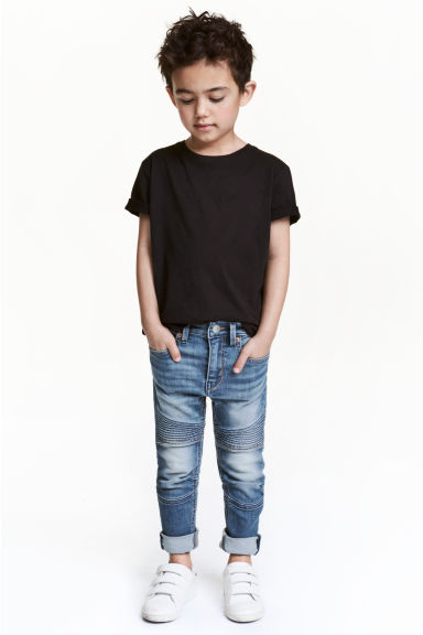 Skinny Fit Biker Jeans - Denim blue -  | H&M 1