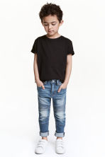 Skinny Fit Biker Jeans - Denim blue -  | H&M CN 1
