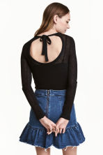Top in maglia fine - Nero - DONNA | H&M IT 1