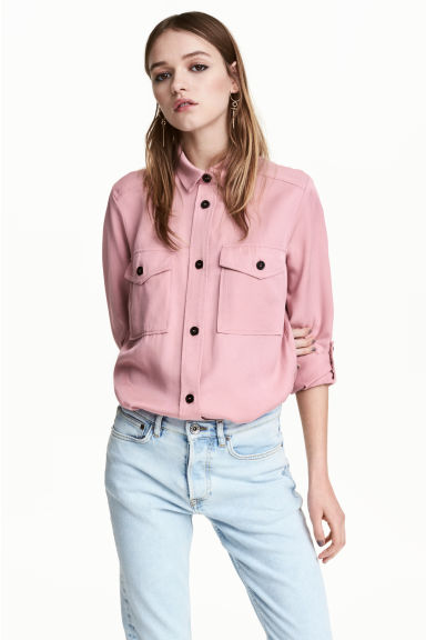 Camicia casual in lyocell - Rosa - DONNA | H&M IT 1