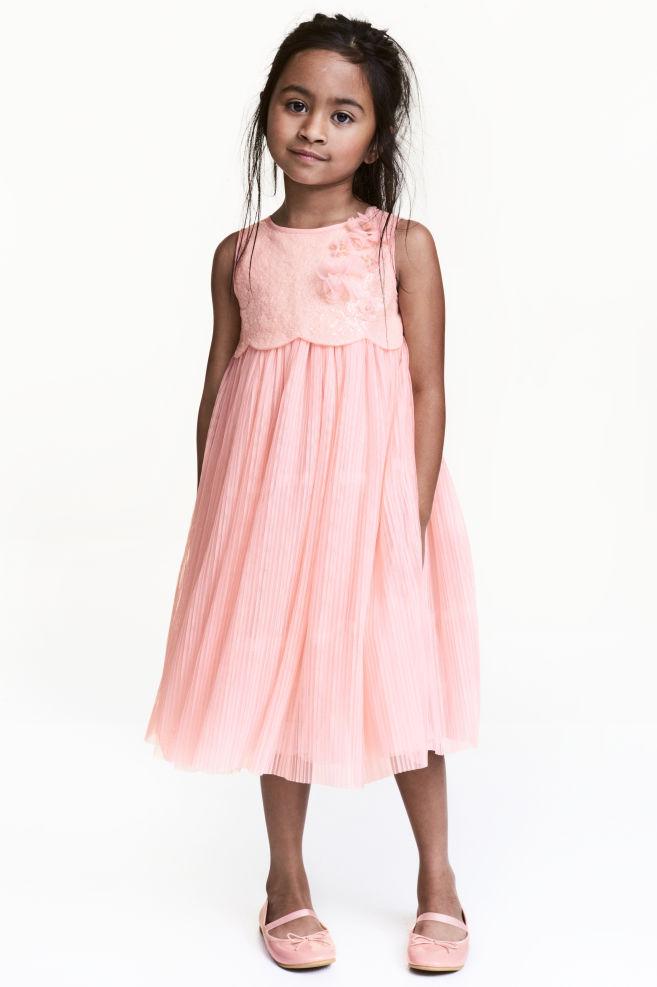 Vestido de tul con lentejuelas - Rosa claro - | H&M ES